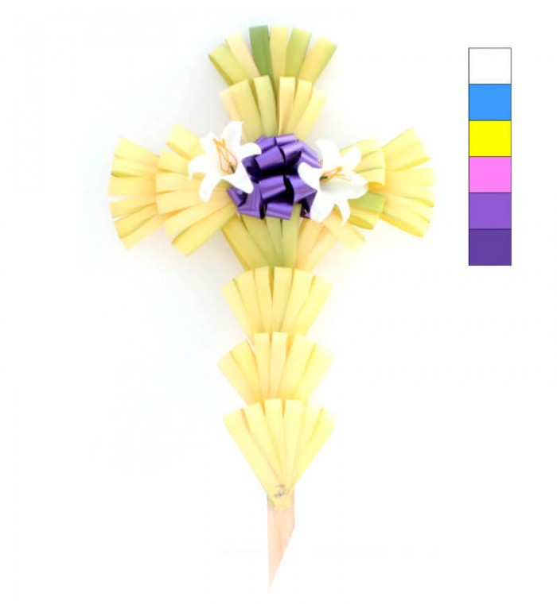 "24"" Palm Cross Decorated Purple"