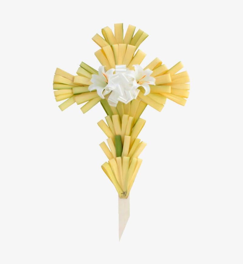 "24"" Palm Cross Decorated"