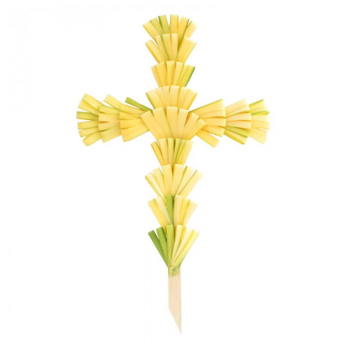 """30"""" Palm Cross Undecorated"""